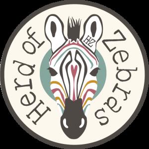Zebra Head_2x2_Green Background