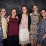 Meredith Burris, Erin Seelinger, Claire Cother, Katherine Beach, and Mary-Kaylin Linch