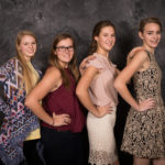 Meredith Burris, Erin Seelinger, Claire Cother, and Katherine Beach