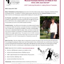 Musical Freestyle Seminar and Ride-A-Test Clinic with Joan Darnell